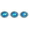 Plastic Trimming-stellina 5Yds 28x23mm Aqua Aurora Borealis